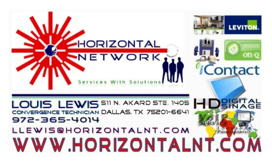 Horizontal Network Business Card